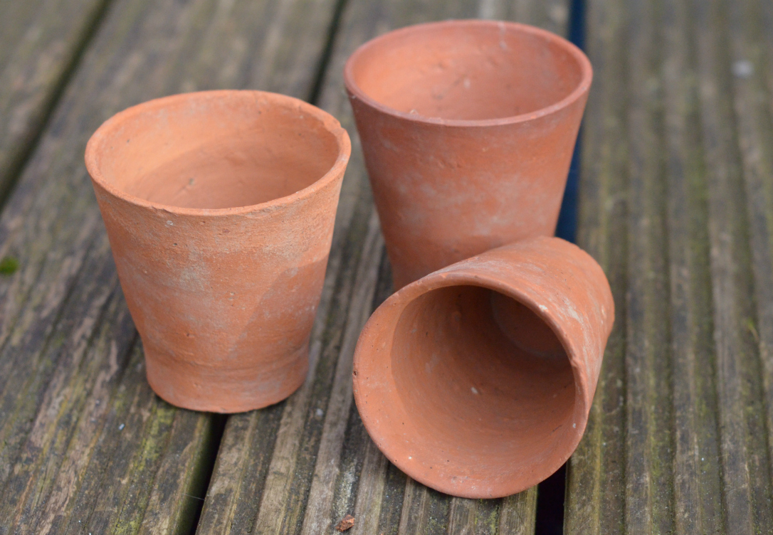 old terracotta pots