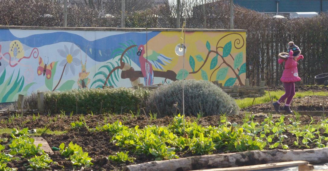 community garden mural