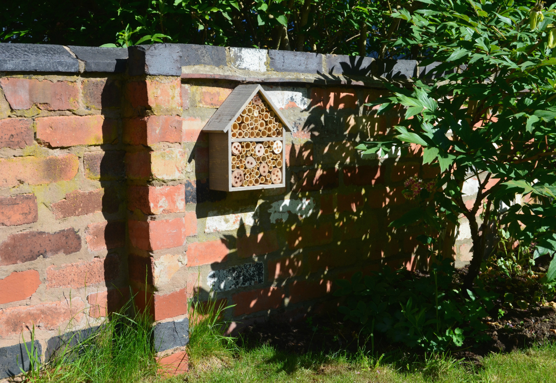 make your garden bee-friendly by installing a bee house