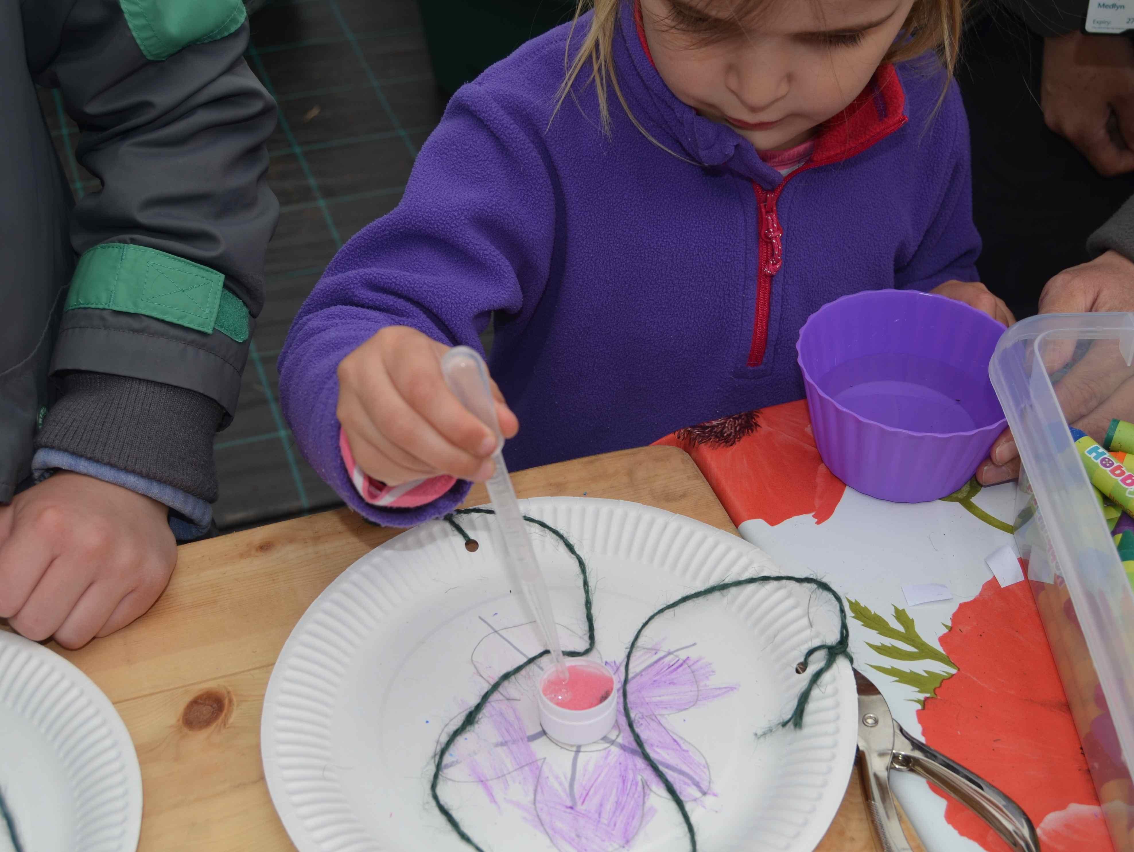 Nottingham in Bloom open day making a butterfly feeder