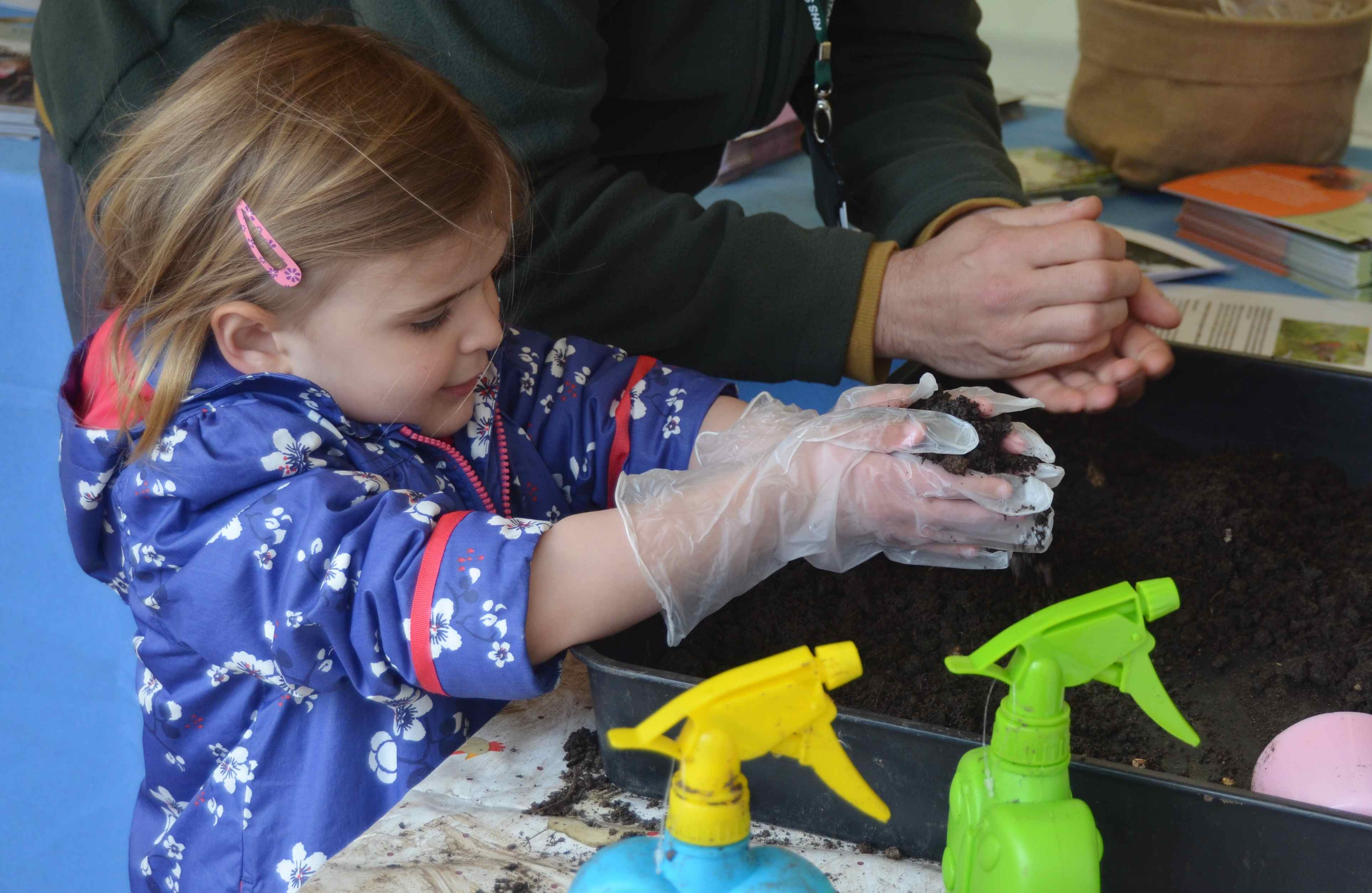 Nottingham in Bloom open day making a ladybird seed bomb