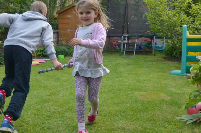 garden games relay race