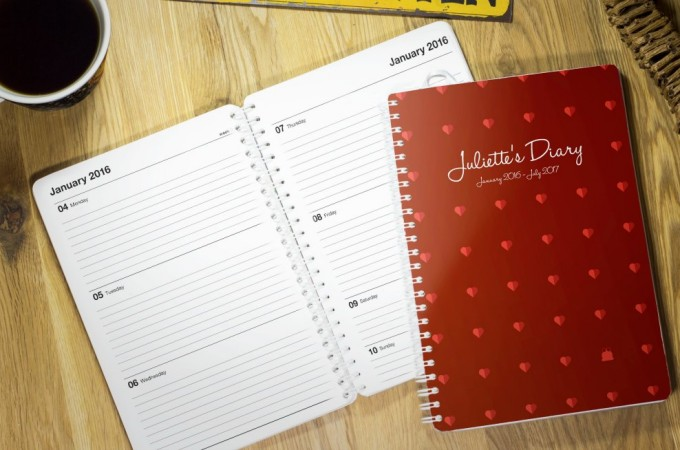 Giveaway: TOAD personalised diaries