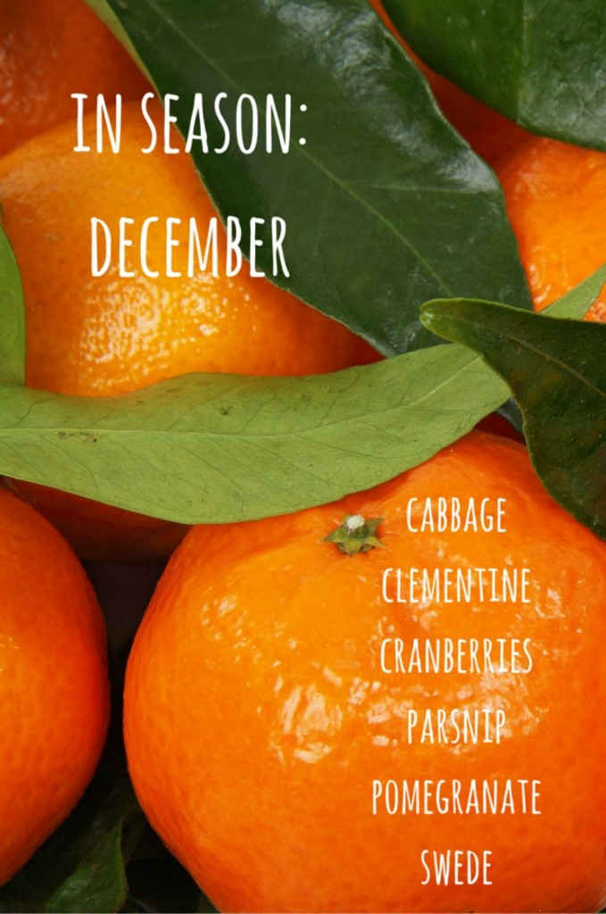 fruit vegetables in season december