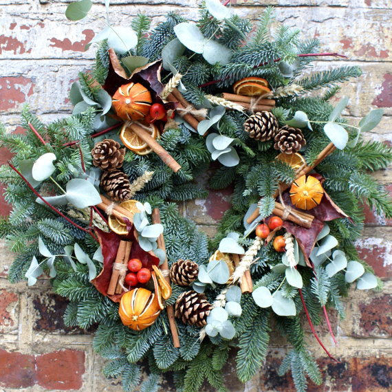 rustic country christmas wreaths - Christmas Wreaths Etsy