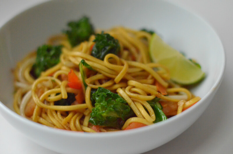 flower sprouts pad thai vegetable stir fry