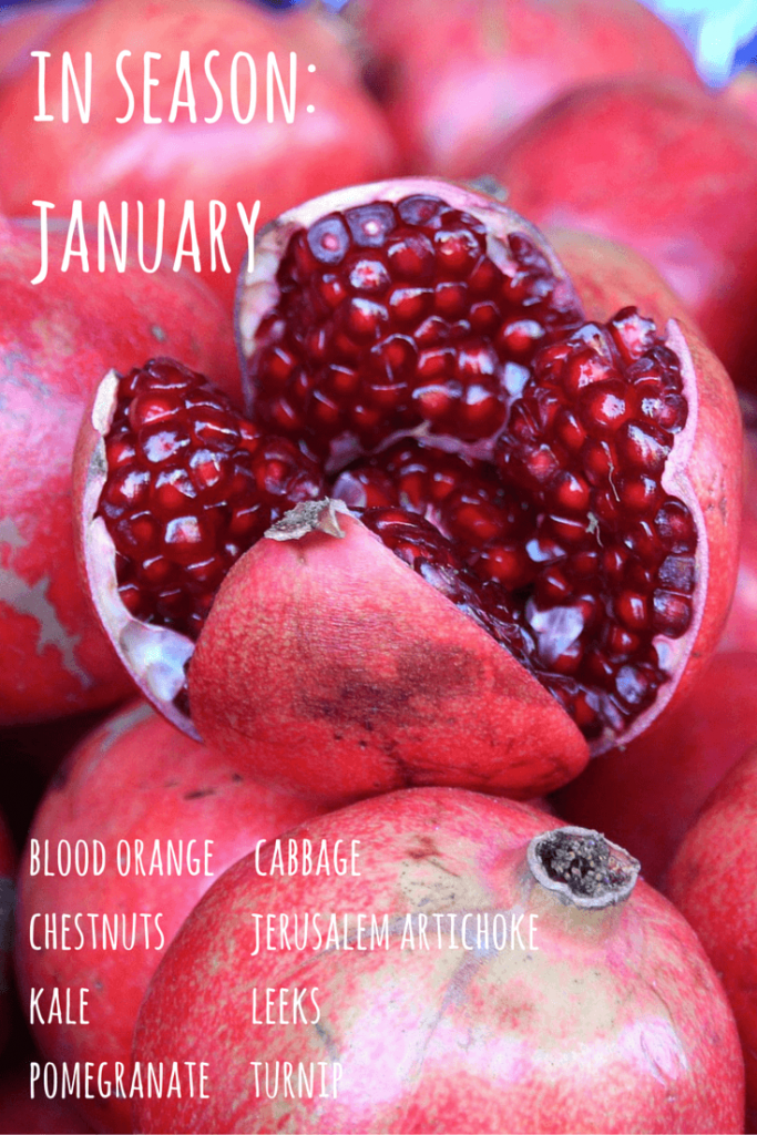 fruit and vegetables in season january