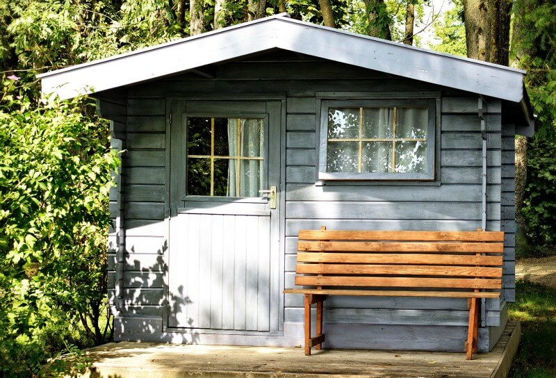 choosing the right shed for your garden - shed with seating