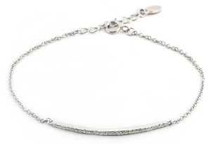 mother's day gift ideas brilliant inc sterling silver pave bar bracelet