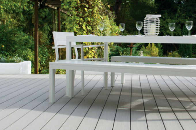 composite decking for a family garden