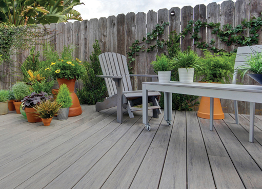 timbertech composite decking for a family garden
