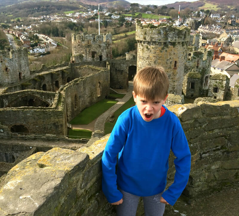 a family adventure in wales exploring conwy castle