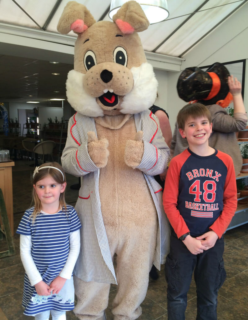 wyevale garden centres tea with the easter bunny