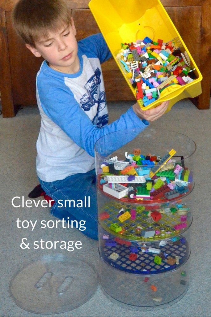 clever small toy sorting and storage with blokpod