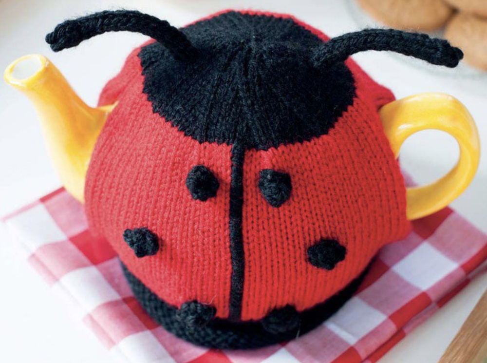 a cute ladybird tea cosy would be perfect for a summer garden party