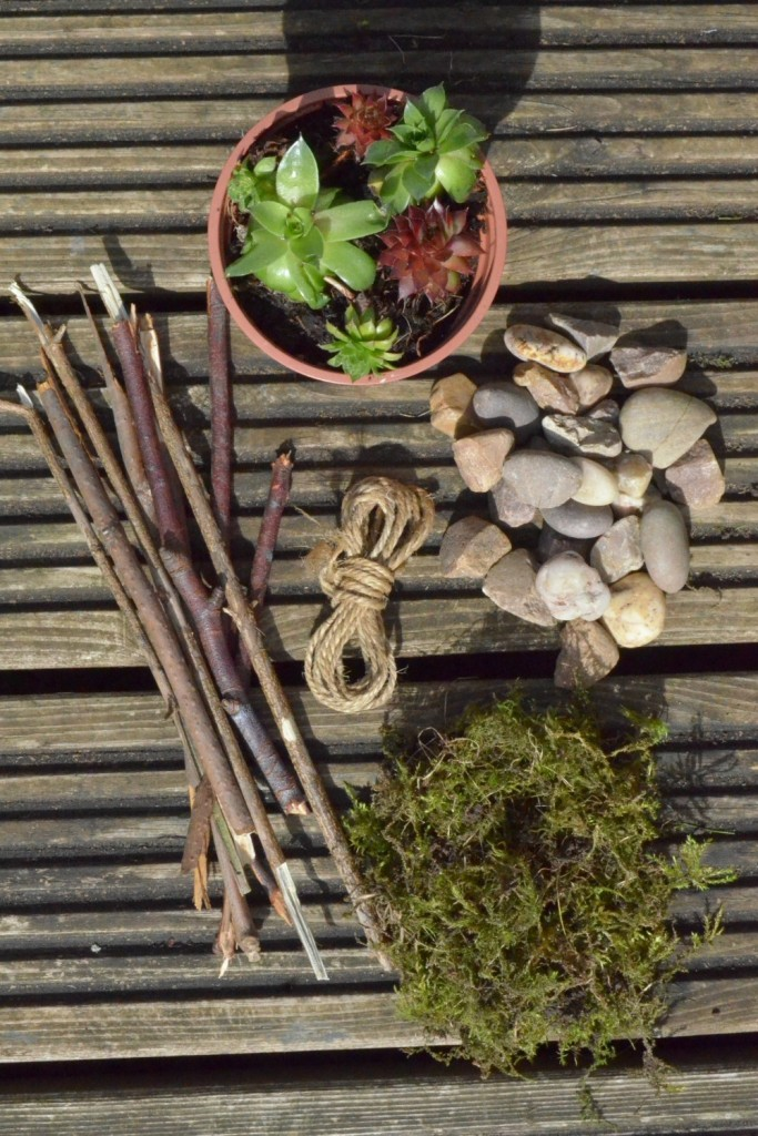 materials for making a miniature fairy garden