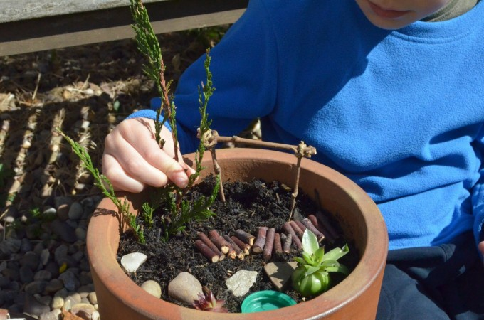 Nature craft: making a miniature garden