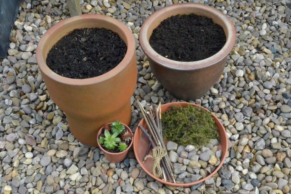 materials to make a miniature fairy garden