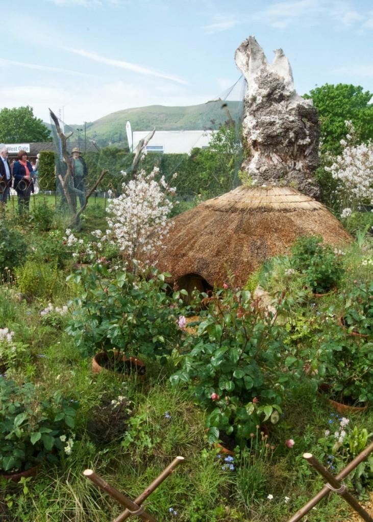 rhs malvern spring festival gardening amidst ruins show garden
