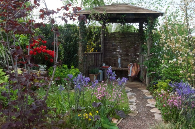 rhs malvern spring festival water spout show garden