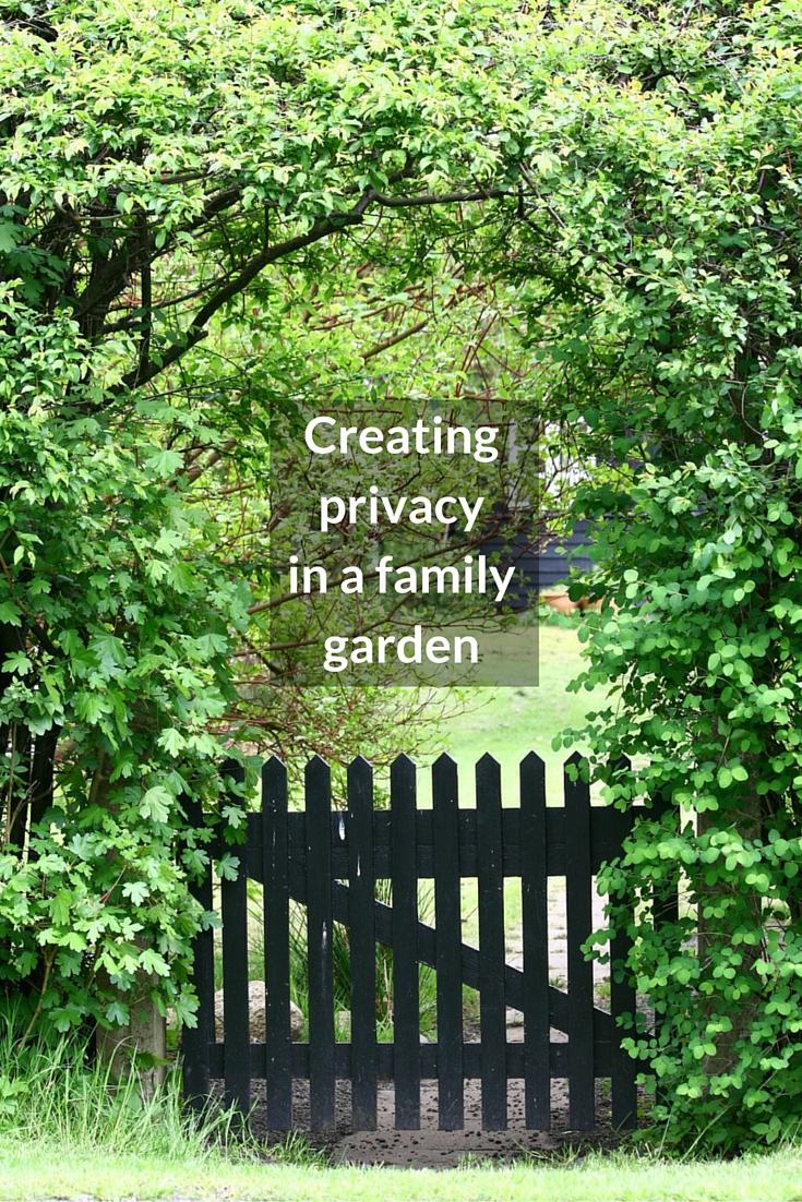 Ideas for creating privacy in a family garden growing family for Growing families
