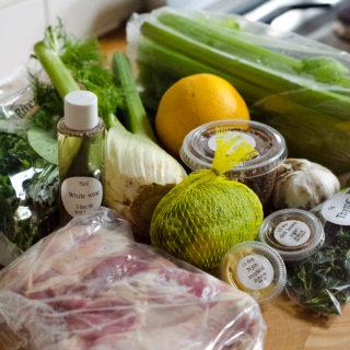 riverford sarah raven recipe box sangria chicken ingredients