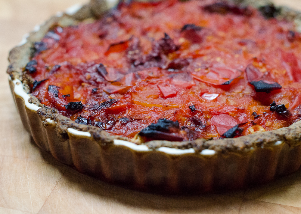 riverford sarah raven recipe box tomato and poppy seed tart