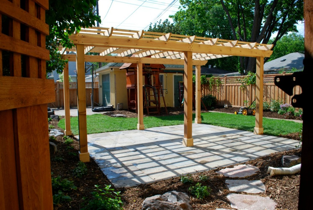 a pergola is a great option for creating garden privacy