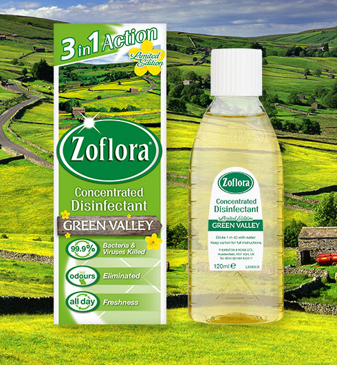 zoflora green valley disinfectant