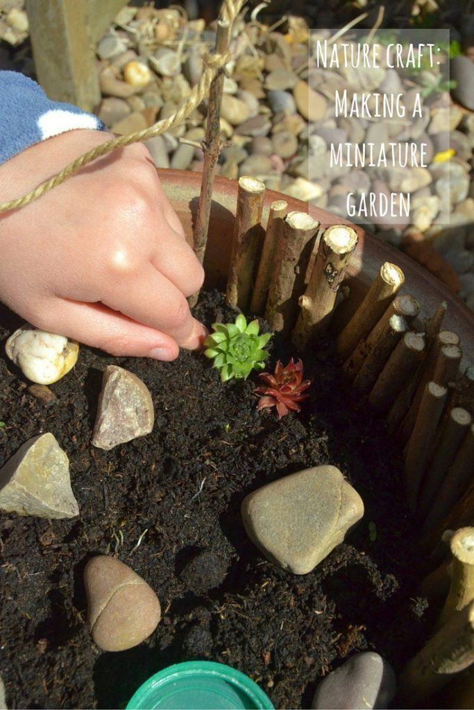 nature craft - making a miniature garden