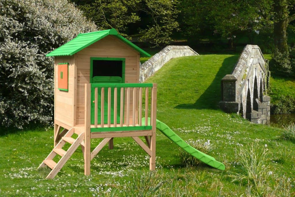 big game hunters outdoor play chestnut tower wooden playhouse