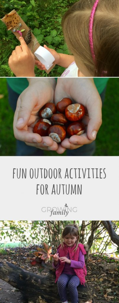 Looking for fun ways to get the kids outside in autumn? Check out these ideas for activities and crafts to help you make the most of being outdoors and enjoying nature!