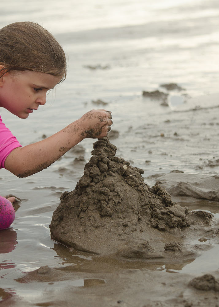 beach nature craft with wet sand
