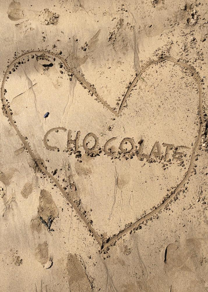 beach love heart