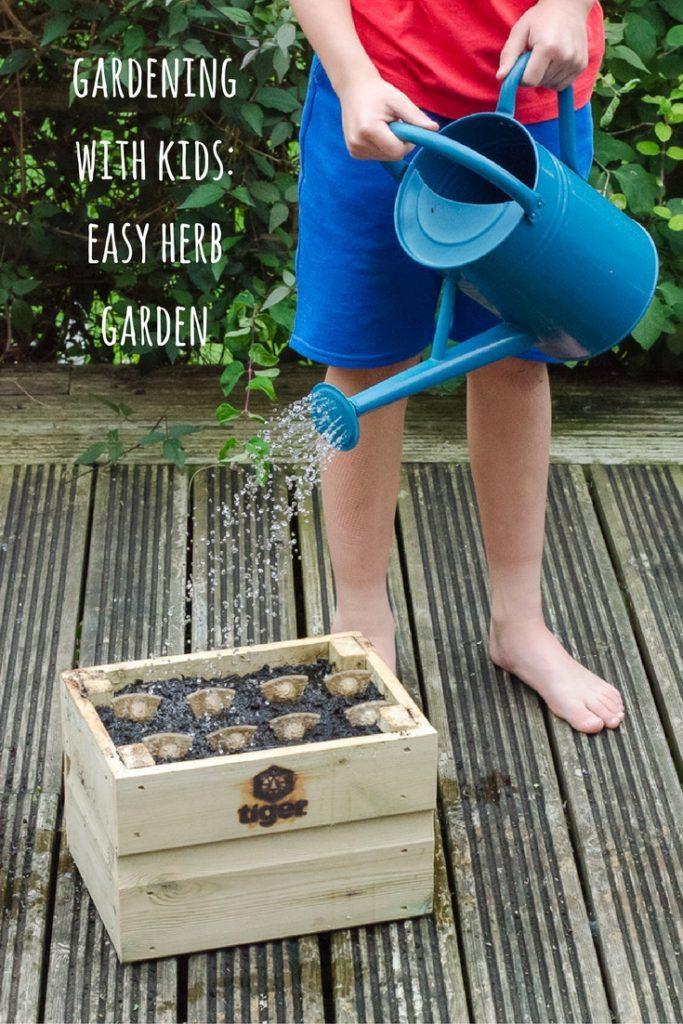gardening with kids easy herb garden