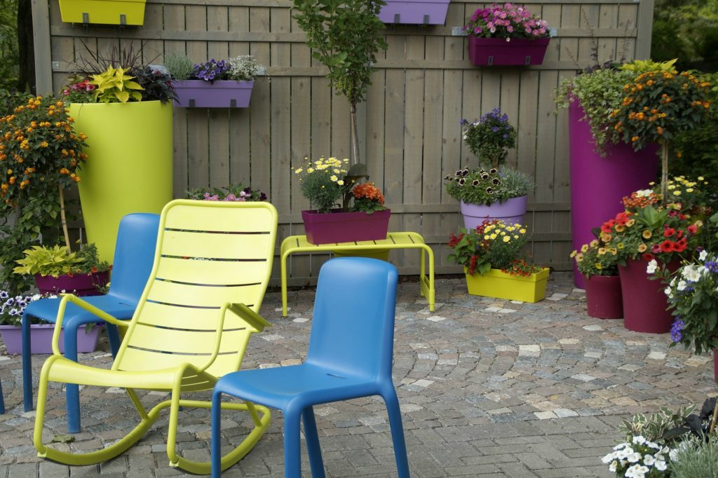 patio gardening in containers