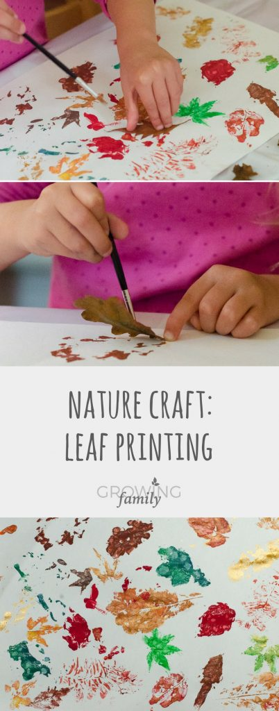 How to make simple leaf prints painting using natural materials - a fun nature craft that's perfect for autumn!