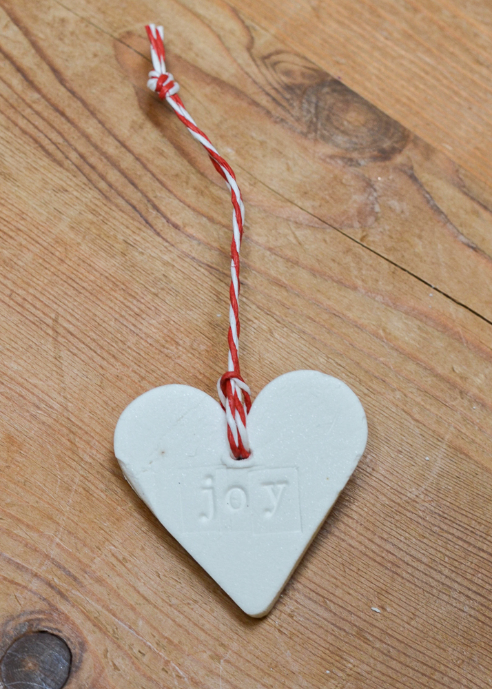 DIY Christmas decorations made from baking soda dough
