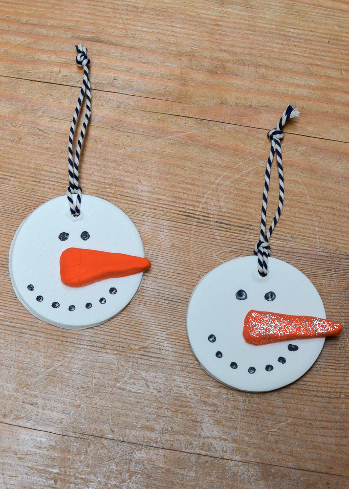 make these beautiful homemade christmas ornaments using baking soda clay - a fun craft to help prepare your home for the holiday season.