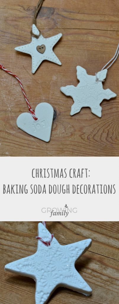 How to make these beautiful homemade christmas ornaments using baking soda dough - a fun, easy craft to help prepare your home for the holiday season.