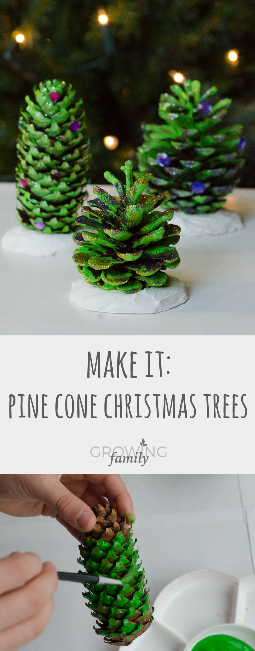 Natural christmas decorations pine cone trees growing for How to make xmas decorations with pine cones