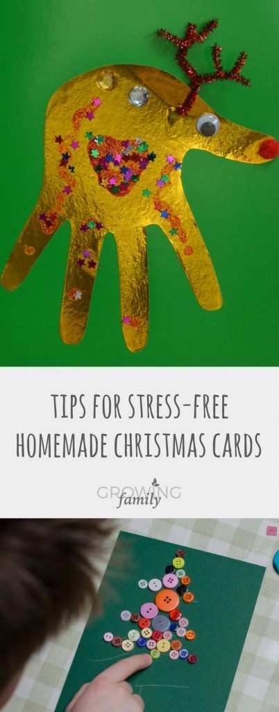 Homemade Christmas cards are a great craft activity to do with the kids; take the stress out of it with these handy tips and ideas.
