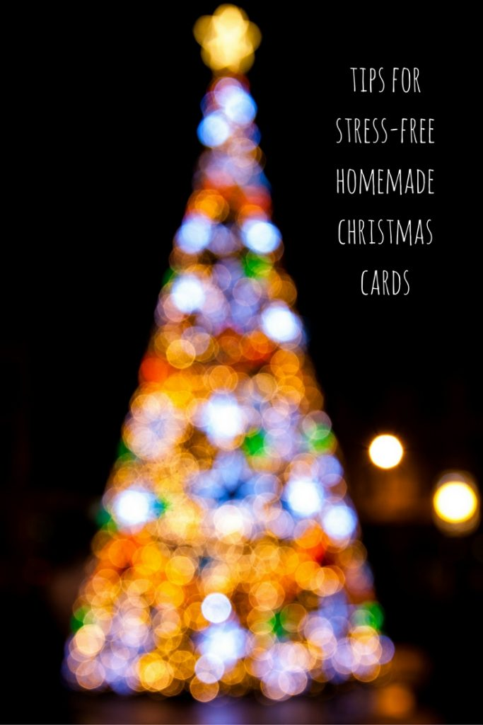 tips for stress-free homemade christmas cards