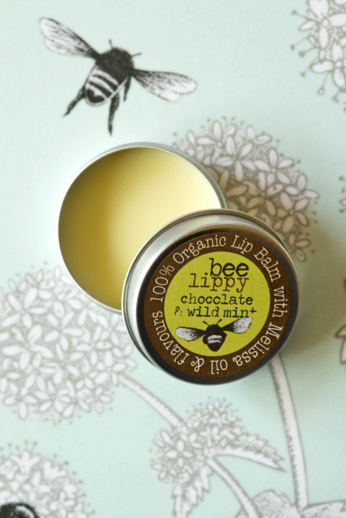 Beefayre chocolate & wild mint lip balm