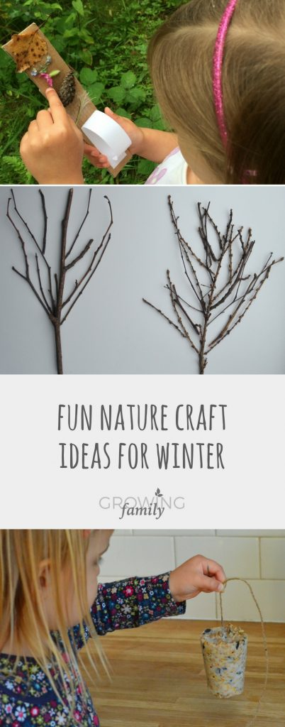 Nature craft is a perfect way to get kids outdoor in winter.  Check our these ideas for winter nature crafts - they're all easy, fun and give great results!