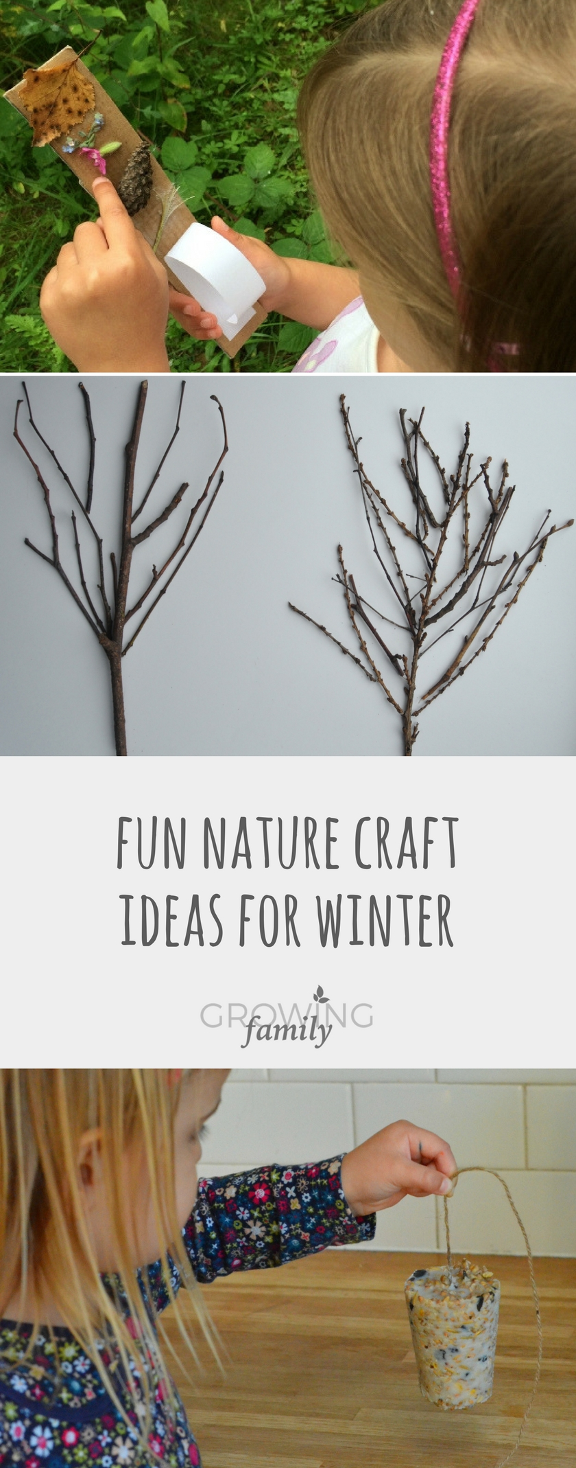 Fun Winter Nature Crafts For Children Growing Family