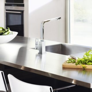 kitchen update ideas - install new taps