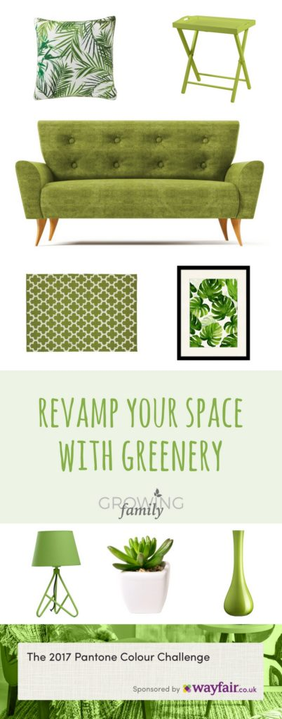 Revamp your living space using Greenery, the Pantone colour of the year for 2017. Check out my top picks for bringing this versatile colour into your home.