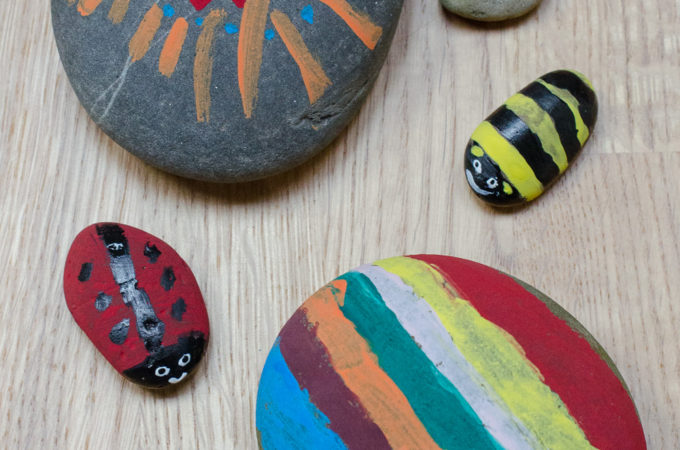 Nature craft: painted rocks