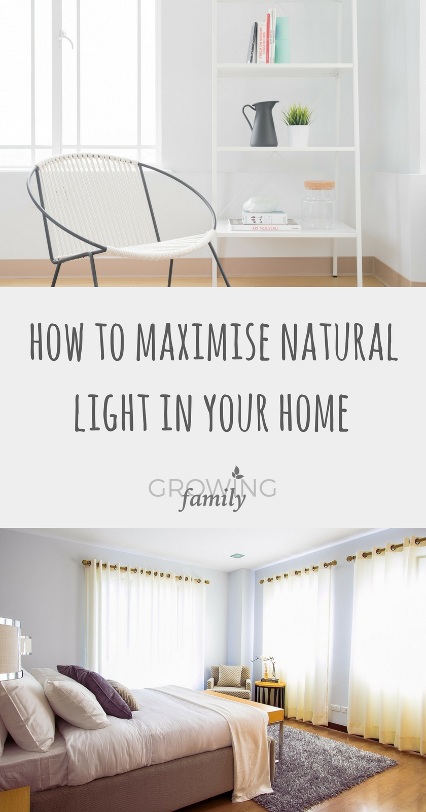 Tips for maximising natural light in your home growing for Natural light in homes